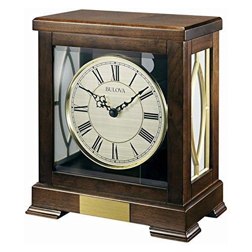 Bulova Bulova Victory Chiming Mantel Clock, Brown, Wood