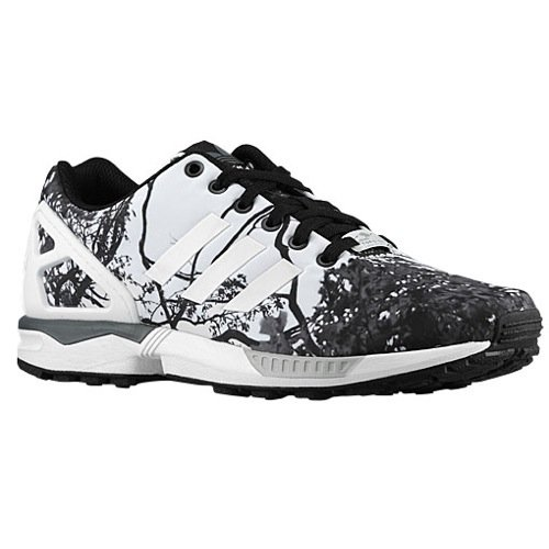 Zx Flux Womens In Black/White (Tree Print- Photo Print Pack) By Adidas, 8.5