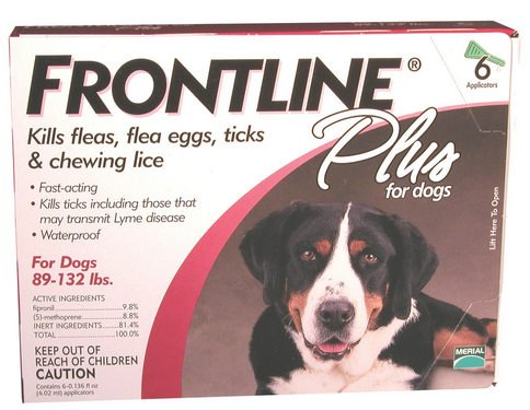 Frontline Plus For Dogs 89-132 Lb, 6 Pk
