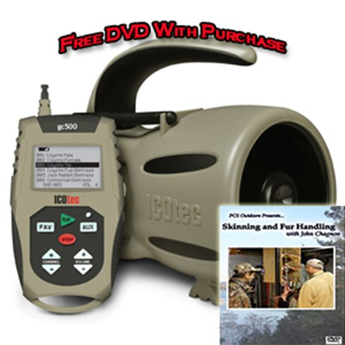 Cheapest Price! ICOtec GC500 Electronic Game Caller Over 200 Sounds With Free Fur Handling DVD