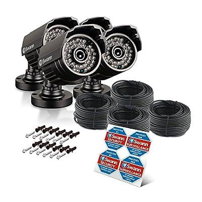 Swann PRO-615 4 Camera Pack Plain Box 650TVL Add-on Bullet Camera, Black (SRPRO-615WB4-US)