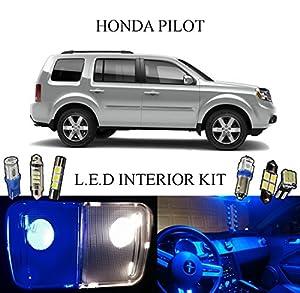 2012 Honda Pilot Ultra Blue Led Interior Package Vanity Lights 13 Pieces Automotive