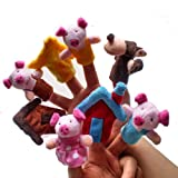 Baby Fairy Tale the Three Little Pigs and the Wolf Finger Puppets Toys Story Preschool Toy