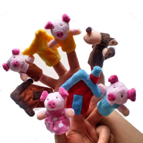 Fairy-Tale-the-Three-Little-Pigs-and-the-Wolf-Finger-Puppets-Toys-Story-Preschool-Toy
