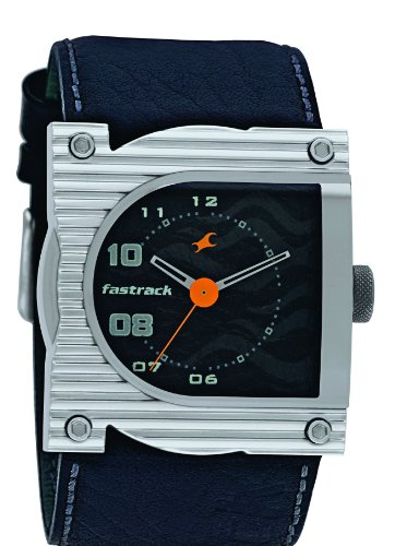 Fastrack Analog Black Dial Men's Watch - N3020SL02-wristwatches