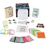 Fujifilm Instax Mini 8/8+ Instant Camera Bundle Gift Box: 10 Types of Accessories- WHITE Mini 8/8 Plus Case, 2 Albums, Selfie Lens, 4 Color Filters, 5 Frames, 10 Wall Hang Frames, 60 Stickers & More