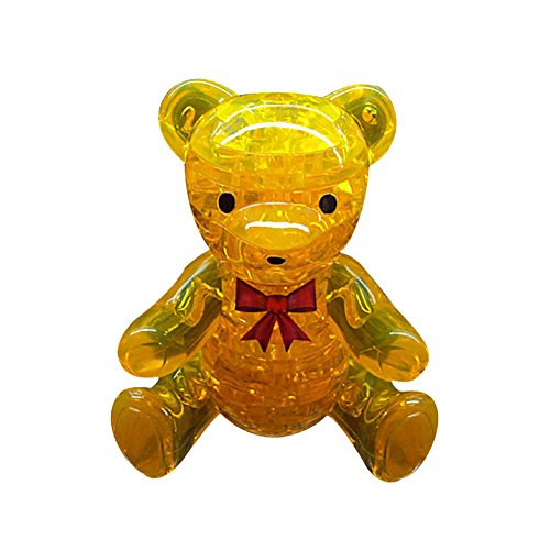 Tenflyer Orange Crystal 3D Furnish Bear Assembly Puzzles IQ Gadget Toy rm1 2337 rm1 1289 fusing heating assembly use for hp 1160 1320 1320n 3390 3392 hp1160 hp1320 hp3390 fuser assembly unit