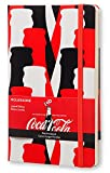 Moleskine Coca-Cola Limited Edition Notebook, Large, Plain, Scarlet Red, Hard Cover (5 x 8.25)