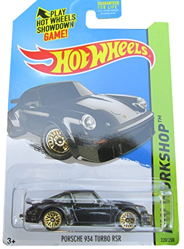HOT WHEELS 2015 GARAGE SERIES BLACK PORSCHE 934 TURBO RSR DIE-CAST