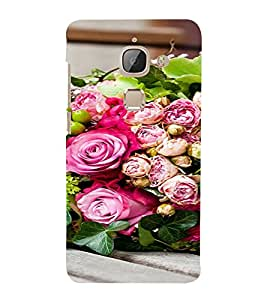 PrintVisa Flower And Leaves Design 3D Hard Polycarbonate Designer Back Case Cover for LeEco Le Max 2