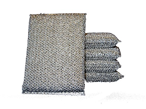 dirtbusters-non-scratch-cleaning-pads-x-10-silver-brilliant-scourer-stainless-steel-non-stick-coatin