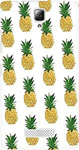 AMEZ designer printed 3d premium high quality back case cover for Lenovo A2010 (pineapples)