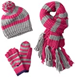 Berkshire Girls 7-16 Striped Cold Weather Hat Set