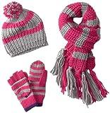 Berkshire Big Girls  Striped Cold Weather Hat Set