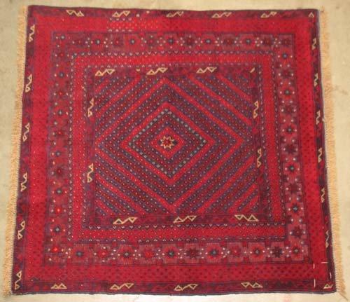 "Hand-woven Mushwani Oriental Area Rug 3'11"" x 3'9"" #10.094"