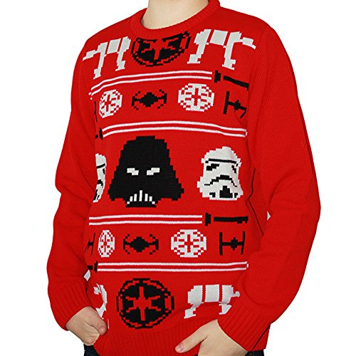 Ufficiale Star Wars Natale Imperial Knit, Maglione Red L
