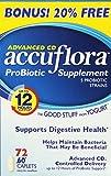 Accu Flora Pro-Biotic Supplement, 72 Count