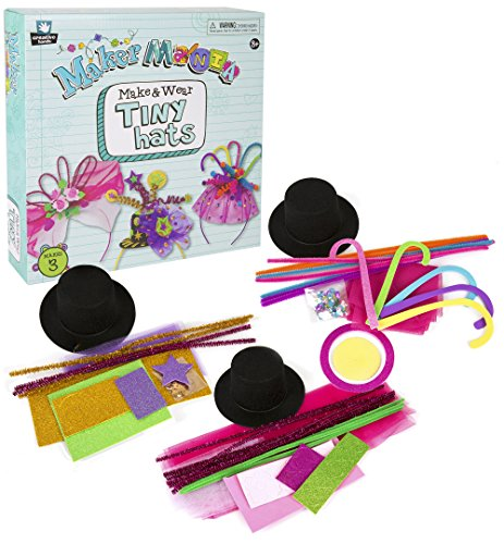 [Creative Hands by Fibre-Craft - Maker Mania Make and Wear Tiny Hats Kit - Makes 3 Hat Headbands - Ages 8 and] (Creative Do It Yourself Halloween Costume Ideas)