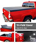Premium TriFold Tonneau Truck Bed Cover For 05-15 Nissan Frontier 5' (with/without utility track); 09-12 Suzuki Equator 5' (60 inch) Short Box Trifold Truck Cargo Bed Tonno Cover