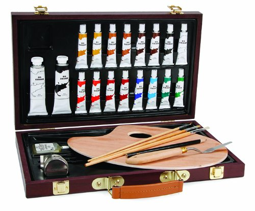 Darice 1103-082 Studio 71, 27 Piece Oil Painting Art Set, Wood Box (Oil Paint Beginners compare prices)
