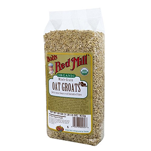 Bob's Red Mill Organic Oats Whole Groats, four 29-Ounce bags