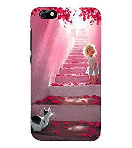 Vizagbeats Animated Girl on Steps Back Case Cover for Huawei Honor 4X::Huawei Glory Play 4X
