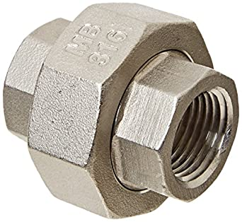 Stainless Steel 316 Cast Pipe Fitting, Union, Class 150, NPT Female