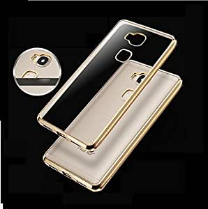 Wellpoint Back Cover For Honor 5C (Gold Edge Case) Rubber Case