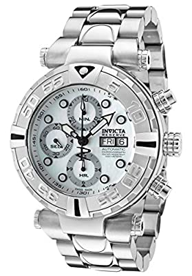 Invicta Men's Subaqua/Noma I Automatic Chronograph White MOP Dial Stainless Steel