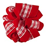 Offray Garlene Wired Edge Holiday Plaid Ribbon, 4