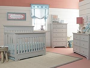 Fisher-Price Lakeland 5-in-1 Convertible Crib, Misty Grey