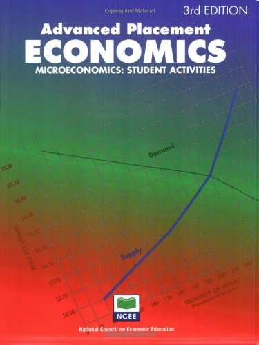 Advanced Placement Economics: Microeconomics: Student Activities (Advanced Macroeconomics 4th compare prices)