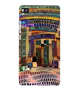 PrintVisa Modern Art Ethnic Pattern 3D Hard Polycarbonate Designer Back Case Cover for Huawei P8