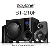 Boytone BT-210F, Ultra Wireless Bluetooth Speaker, Powerful Sound with Powerful Bass System 30 watt, excellent quality clear sound & FM radio, with Remote control Aux Port, SB/SD/ for Smartphone's , Tablets , Desktop Computers , Laptops ,Black color.