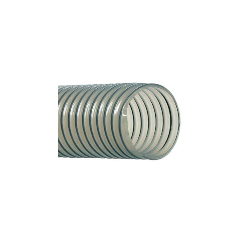 Hi Tech Duravent Vac U Flex TPU Series Polyurethane Vacuum Hose, Clear, 3 ID, 3 3/8 OD, 25 Length