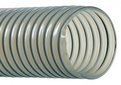 "Hi-Tech Duravent Vac-U-Flex Tpu Series Polyurethane Vacuum Hose, Clear, 6"" Id, 6-7/16"" Od, 25' Length front-454803"