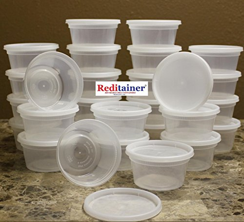 Reditainer - 12 Ounce Deli Food Saver/Meal Prep Containers - Package of 40 (Package Container compare prices)