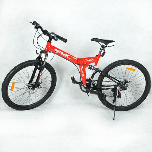 Folding Foldable Fold Mountain Bike Bicycle Cycle Red 16inch High-carbon Steel