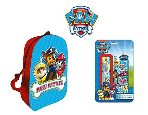 Regalo Zaino Paw Patrol. 3d a forma dei personaggi SerieTV (Astuccio Blister Rosso Blu regola temperamatite gomme-pack) Gift Calze marcacortesía ttiendadeleggings in omaggio