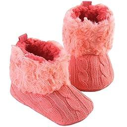Happy Cherry Newborn Kids Boys Girls Cotton Winter Boots Crib Shoes 6-12 M Rose
