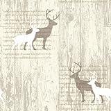 Stag Cream Wallpaper - Arthouse