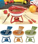 Chocolate Fondue Set - Color Orange