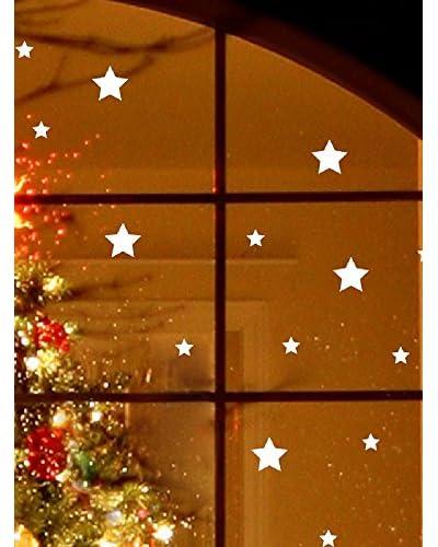 Ambience Live Vinilo Decorativo Bright White Snow Stars Electrostatic .
