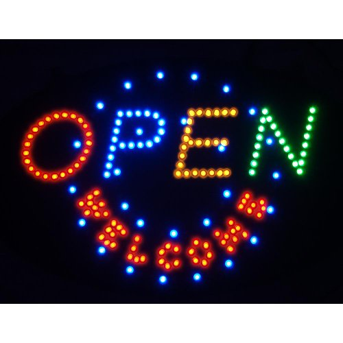 Open Welcome Led 2-Mode Advertising Business Sign Board