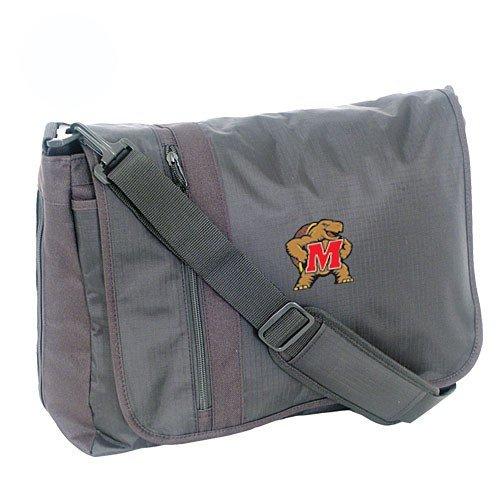 Mercury Luggage Maryland Terrapins Black Messenger Bag