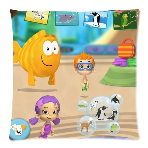 Stylish Design Standard Size 18X18 Two Side Print Hot Cartoon Bubble Guppies Cute Molly Gil Bubble Puppy Pillowcases Protector For Kids-4 front-1028772