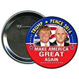 Donald Trump and Mike Pence Round 2016 Campaign Button 1
