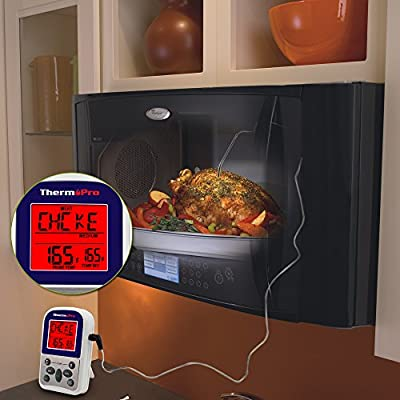ThermoPro TP-10 Digital single probe Roast Alert Cooking Thermometer with Timer for Oven , BBQ, Smoker, Grill, Meat