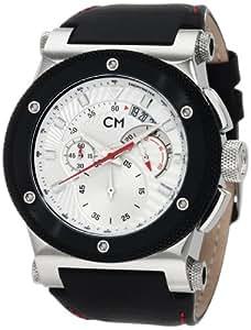 Carlo Monti Herren-Armbanduhr Stahl/silber/Leder CM701-112
