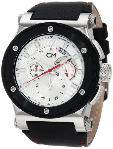 Carlo Monti - CM701-112 - Montre Homme - Quartz - Analogique - Chronomètre - Bracelet cuir noir